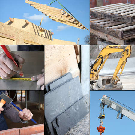 Collage of the construction industry photo