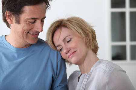 45 49 years: Mature loved up couple
