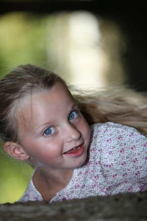 tied hair: Blond girl