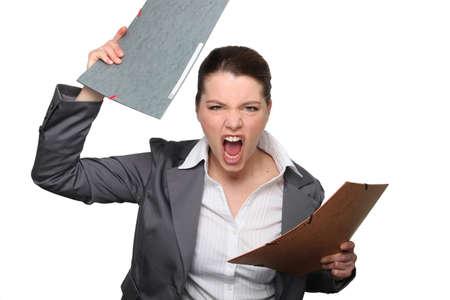 nespokojen: To vše papírování je hnací mě šílený!