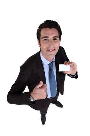 puños cerrados: Satisfecho con la tarjeta de visita profesional