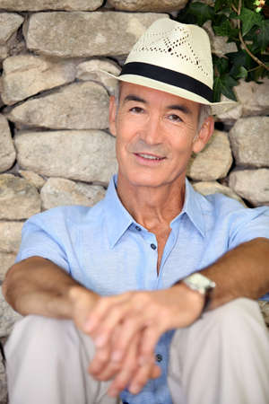 Elderly man on holiday Stock Photo - 12251877