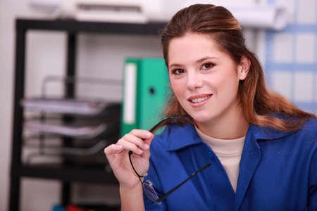 bifocals: sitting at work place