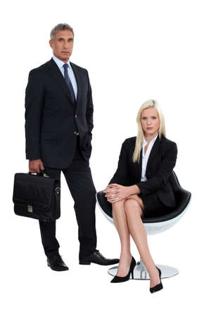 Male and female business partners photo