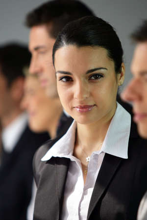 Businesspeople stood in a row Stock Photo - 12302755
