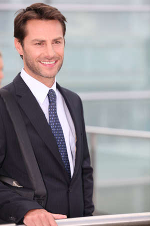 40 45: Businessman smiling Stock Photo