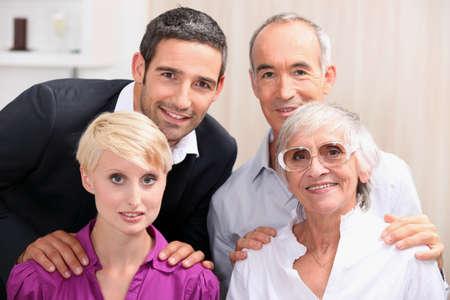 family celebrating together Stock Photo - 12302385