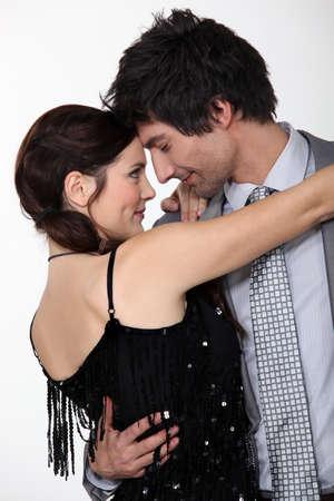 pareja bailando: Pareja de baile Foto de archivo