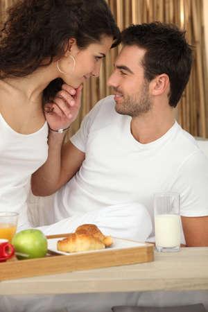 Couple having nice breakfast Stock Photo - 12302246