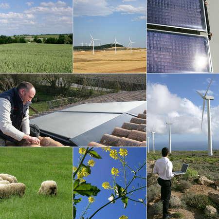 energy mix: Green Energy Stock Photo