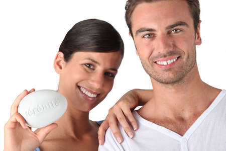 Closeup of smiling couple Stock Photo - 12302389