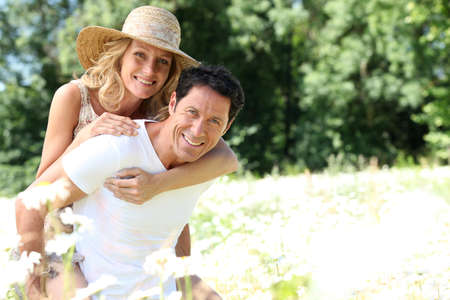 happy wife: Wife on husband