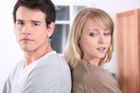 dissension: Couple having a disagreement