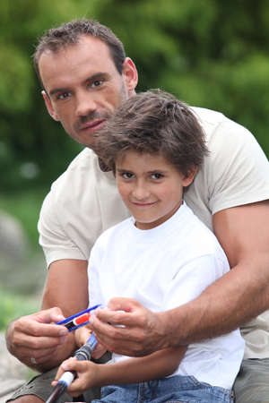 noiseless: a father and his son fishing