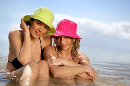Women swimming together Stock Photo - 12302561