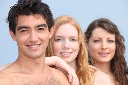 18 19: Teenagers outside Stock Photo