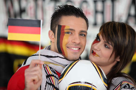 German football supporters photo