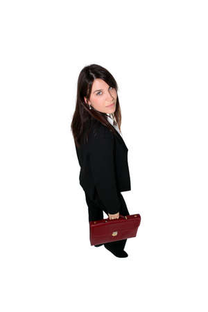 Businesswoman with briefcase Stock Photo - 12362425