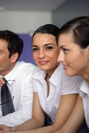 life partner: Young businesswoman in a meeting Stock Photo