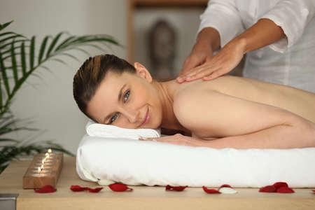 a woman having a massage Stock Photo - 12365249