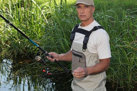 Man fishing photo
