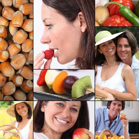 man nuts: Healthy eating mosaic