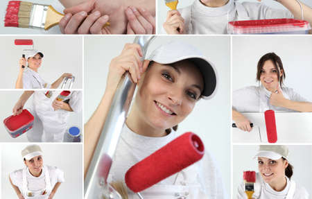 Decorating themed collage Stock Photo - 12362456