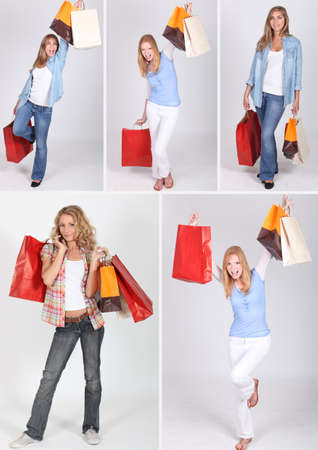 hedonistic: women and shopping bags