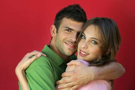 attachments: young couple embracing