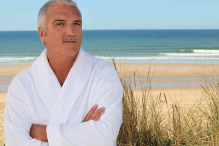 50 55 years: Man in bathrobe