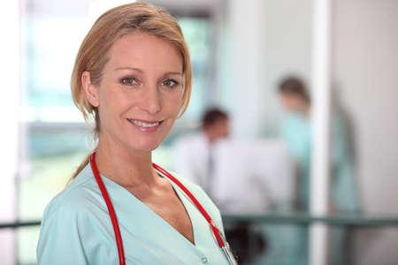 nursing sister: Female medic in a hospital