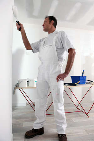 decorator: Decorator painting wall