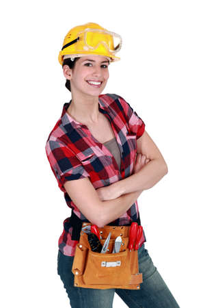 laborer: Female carpenter