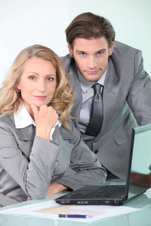 Businessman and woman Stock Photo - 12903239