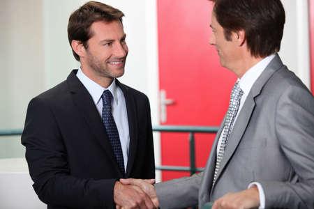 Businessmen shaking hands Stock Photo - 12600722