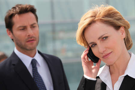 2 50: Businesswoman on the phone
