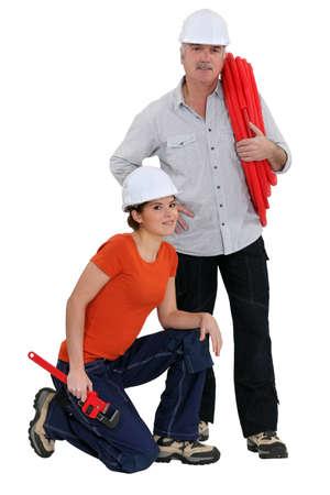 installment: Plumber team Stock Photo