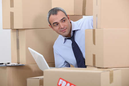 distributor: Man in warehouse Stock Photo