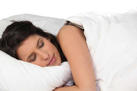 parpados: Mujer durmiendo pac�ficamente