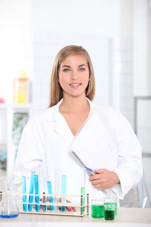 undergrad: young woman in a laboratory