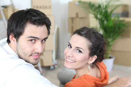 Couple moving house Stock Photo - 12638168
