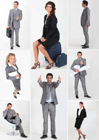 miscellaneous snapshots of male and female business persons Stock Photo - 12595096
