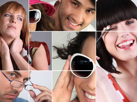 Montage showing variety of eye-wear photo