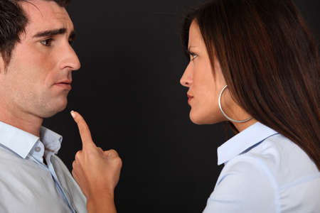 quivering: Couple having an argument