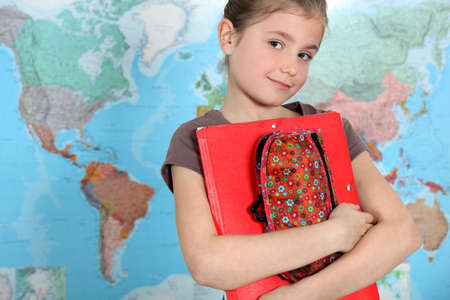 abroad: Young girl thirsty for knowledge