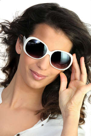 Young woman in oversized sunglasses Stock Photo - 12637663