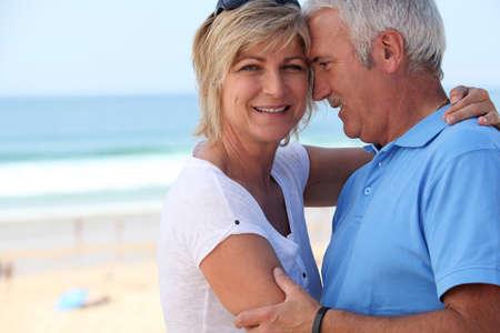Middle-aged couple on holidays photo