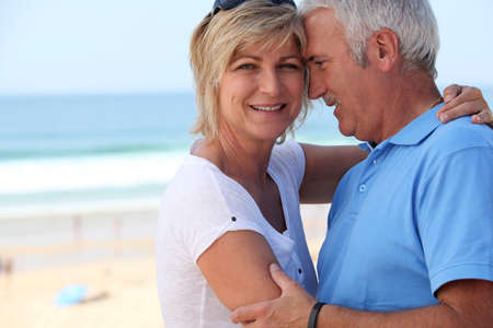 soul mate: Middle-aged couple on holidays Stock Photo