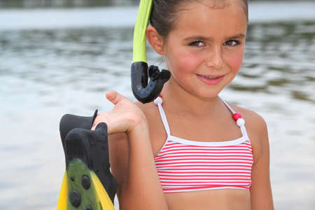 portrait of a little girl at the beach Stock Photo - 12904408