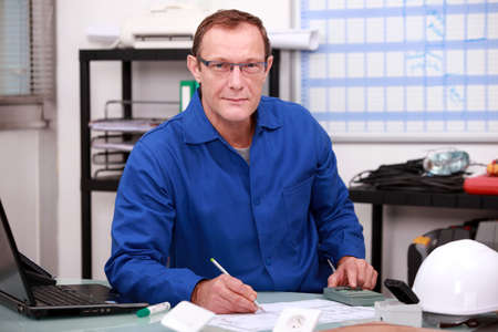 Warehouse worker taking inventory Stock Photo - 12904385